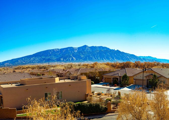 GORGEOUS MOUNTAIN VIEWS! Welcome to Del Webb Alegria, a 55+ Gated Community! Original Owner has meticulously maintained this home!! Inspections completed on 1/16! This light and bright one story home sits on an exceptional view lot and has 1728 SF, 2 BR's plus an office/den, tile throughout, beautiful Quartz counter-tops, Plantation Shutters, Ceiling Fan's, covered patio with gas stub-out for BBQ, Tile Roof, WC Accessible master bath and entrances to home! Also there is a water softener and also water pressure relief valves at meter & garage! REF AIR! All appliances stay and are newer! The Clubhouse offers daily activities, indoor/outdoor pool, gym, and so much more! Alegria is close to medical facilities, shopping, restaurants, golf courses, I-25 and is 35 minutes to Santa Fe!