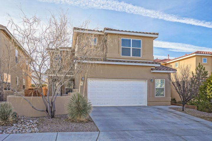 Open Sun 1/26 2 pm to 4 pm. Summertree Homes thoughtfully designed open floor plan,  with sought amenities, impeccably maintained, nothing needs to be done! Maple cabinets, granite counter tops, refrigerated air, kitchen island,  upgraded tile, wood and carpeted floors, fans in beds, extra large patio, fully and beautifully landscaped, entry courtyard, energy efficient.  Full bedroom on main with 3/4 bath access for multi-generational or guest/office needs. Loft family room, three big beds and laundry on upper.  Master suite has view balcony, huge walk in closet, roomy bath with garden tub, over-sized shower.   Garage is over-sized too, has extra space for workshop with upgraded wiring or storage, deep sink. Shed stays. Not in PID!   Exceptional offering - this is as great as it gets!