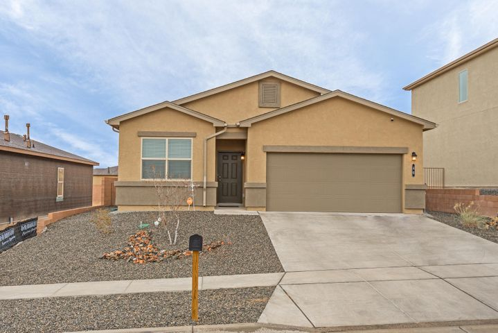 Schedule Your Appointment Today to see this light and bright Home! Fully landscaped front and back yards. Back yard Pergola is ideal for enjoying our beautiful NM weather. Open kitchen design. Refrigerated Air. All appliances, including W/D ready for the second owner. This Happy Home won't be on the market long.