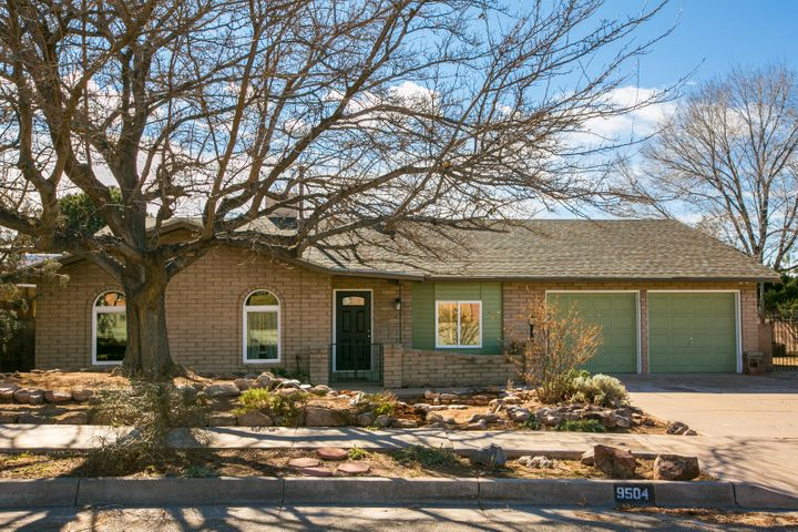 OPEN HOUSE SUNDAY 1-3 PM! This thoughtfully updated OPEN CONCEPT Ranch home in Academy Hills neighborhood (La Cueva school district) will check ALL the boxes for your buyer's 'MUST HAVE' list! The wood-look tile flooring (throughout) is complimented by the designer paint colors. SS appliances, gas cooktop, and granite topped cabinets adorn the spacious kitchen open to the great room and dining area. There is a walk in pantry with room for a full size freezer or 2nd refrigerator and a separate mud room off the garage. Updates also include vinyl thermal pane windows, all new bathrooms, 1 yr old roof, LED variable hue lighting, upgraded electrical service. Master Suite has 2 walk in closets! Side yard gate opens for additional parking for cars or RV. See it today!
