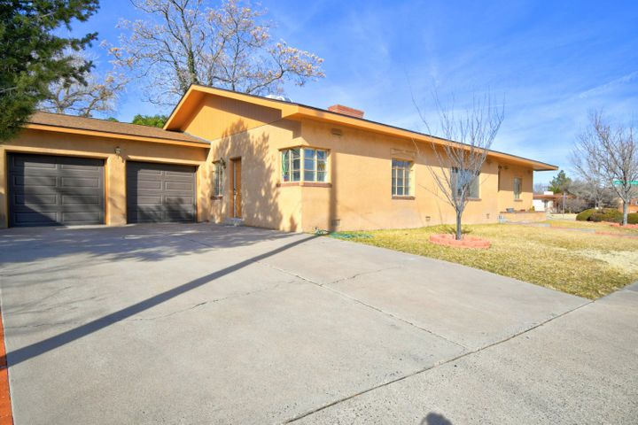 Terrific UNM North home. Original hardwood floors, large bedrooms, both bathrooms updated. New Roof 01/2020.  Updated bathrooms.  Close to Hidden Park and Twin Park.  Fabulous location. Unbelievable Price! Estate sale, no sellers disclosure.