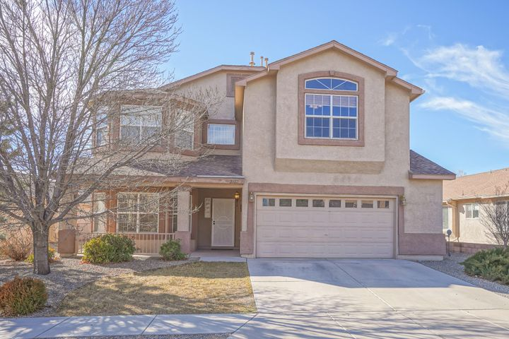 1st Showings at Grande Open House Feb 23rd, 1-3 pm. This is a GEM! Move-in ready, meticulously cared for, GATED Sungate Estates 'pride of ownership' neighborhood. Lots of updates and upgrades. Cherry wood stain kitchen cabinets with tile back splash, new stainless steel appliances; refrigerator conveys. Palatial owner's suite boasts vaulted ceiling, private balcony, gas fireplace, soaking tub, separate shower, new tile. Great room kitchen - dining- family room downstairs with pellet stove, plus bonus front room could be game room, formal dining, office or extra living area. Large loft upstairs could easily convert to 4th bedroom. Refrigerated air.