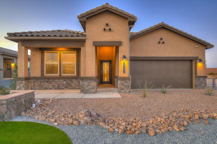 Brand NEW Construction!!  The Logan Home is close to city indoor swimming pool, library, soccer fields, ice skating, ''McDermott'' athletic center, shopping, restaurants, hospitals, and entertainment. This 4-bedroom plus Study home has a dream kitchen including granite counter tops, all new gas appliances, refrigerator, blinds, separate tub/shower and an open floor plan. Come see your new home at one of our newest premier communities in the heart of Rio Rancho