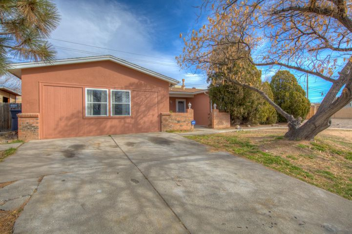 Great home in NE Heights. Move in ready open light and bright. Garage converted into extra large family room. Kitchen has granite counter tops. Large master suite. Huge lot room for RV.