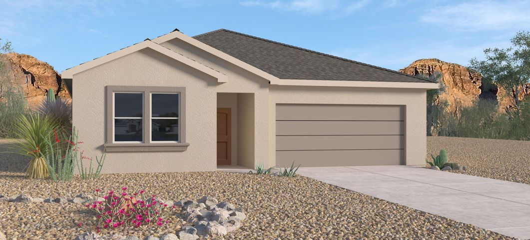 New Home in Volterra, A beautiful community with so much to offer in SE ABQ.  This Never Lived in Home is our newly designed ''Logan''. An incredible 1-story with a dream kitchen and spacious entry. This 4 Bedroom plus Study-3 Bathroom home has Granite kitchen counter tops, Gas Appliances, Master Suite with Separate tub and tiled shower. Close to ABQ Uptown , I-40, entertainment, restaurants, and Kirkland AF Base.