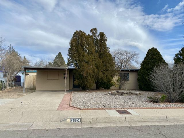 Come live in desirable Bel Air neighborhood of ABQ uptown area for an affordable price... this HUD home is AWESOME and qualifies for just $100 down for FHA buyers too! Equal Housing Opportunity. HUD case #361-276300 / listed IE (FHA insurable with up to $10,000 buyer repair escrow). HUD homes are sold AS-IS w/all faults; no pre-closing repairs or payments will be made for any reason. Home eligible for FHA 203K financing (when buyers can borrow more than price to renovate to their desire). Outstanding possibilities! For Utility Turn Ons: Buyer pays all fees to get utilities on with accepted bid + $150 FSM deposit. Approval must be granted by HUD's field service manager. PCR and disclosure available but not to replace home inspections. To submit bids visit HUD Home Store.
