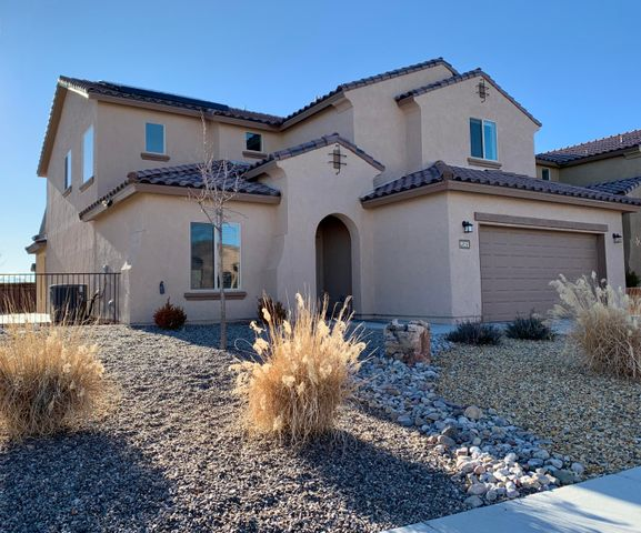 Beautiful Pulte home located in the popular Boulders community! Home features 3,378sf with 6 bedrooms, 4 full bathrooms, 2 living areas and a huge loft! Spacious main living area open to the kitchen. Kitchen hosts upgraded espresso cabinetry, granite countertops, a huge island with seating space, gas range, back splash and pantry. Dining right off of the kitchen. First floor master suite with private bath. Bath hosts, dual vessel sinks, a garden tub, walk-in shower and closet. Additional 1st floor guest room and bath! Upstairs enjoy the huge loft, perfect for a game room or home gym. 4 additional guest rooms! Huge yard with back yard access! Close to shopping, schools and restaurants!