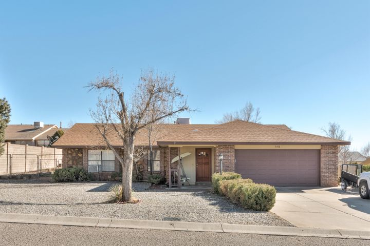 One of a kind opportunity in the heart of Rio Rancho!  This expansive home features 3 bedrooms(possibly 4), 2 bathrooms, large living room, huge family room, formal dining room, eat in kitchen, wet bar, and so much more!  Recent updates include fresh paint, flooring, and appliances just to name a few.  Located on a .25 acre lot with NO HOA!  Plenty of room for your extra drivers, camper, or toys!  Great deck out back with view of the fantastic water feature.  Spa room is an additional 220 square feet that is NOT included in the 2473 square feet!  This home is unlike the others and its exactly what you've been looking for!  Schedule your showing before its gone!