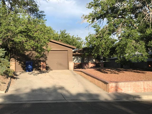Seller will entertain all offers.  This is a great home for a family or for an investor that is looking for consistent renters.  Right in-between the Sunport, the University and CNM.  Very good location!Plenty of upgrades and room for a few improvements, but at this price it would be great!It also has refrigerated air and a two car oversized garage, sprinkler system, mature trees and a cover patio. Come check it out!