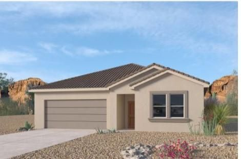 Brand new home in Volterra IV subdivision. A beautiful, professional community with so much to offer in SE ABQ. This never lived in home is our newly designed LOGAN. An incredible open floor plan. One story with a gourmet kitchen and spacious entry. This 4 bedroom plus den/study 3 bathroom home has granite kitchen counter tops, gas appliances, master suite with separate tub and tiled shower. Close to Sandia Labs, Kirkland Airforce base, major hospitals, major shopping, entertainment and I40.