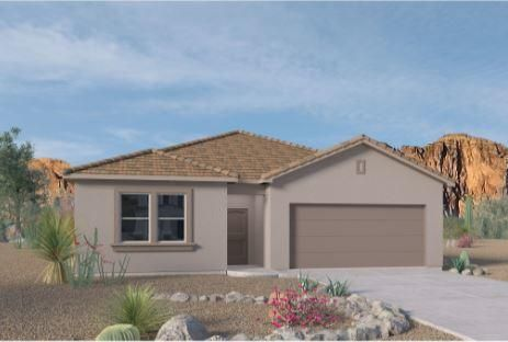 A beautiful NEW home in the VOLTERRA IV Community, this community has so much to offer in SE ABQ! This NEVER LIVED in home is our newly designed ''JORDYN'' incredible 1-story with an open bright kitchen/dining room area, along with GRANITE counter tops (Standard).  This 4 bedroom has the split design has the master bedroom separate from the secondary bedrooms. The fourth bedroom is also separate, for the perfect office, nursery or game room. You'll love the kitchen island, with plenty of space for stools. The kitchen also features a corner pantry and looks out over the spacious great room and dining area. The master suite includes a walk-in closet. The covered patio is a great place to entertain your guests or just relax in your backyard. Close to LABS, Kirkland, & I-40
