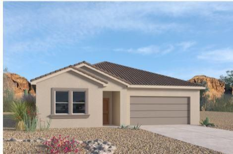 Brand new home in Volterra IV subdivision. A beautiful, professional community with so much to offer in SE ABQ. This never lived in home is our newly designed LOGAN. An incredible open floor plan. One story with a ''IMPRESSIVE 8FT FRONT & REAR DOOR'' gourmet kitchen and spacious entry. This 4 bedroom plus den/study 3 bathroom home has granite kitchen counter tops, gas appliances, master suite with separate tub and tiled shower. Close to Sandia Labs, Kirkland Air-force base, major hospitals, major shopping, entertainment and I40.