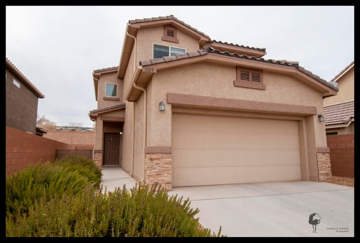 See the virtual tour of this DR Horton Meadowlark home located in the desirable Orchards 1 subdivision by following this link bit.ly/32LbCgj  Located on the edge of Rio Rancho and Bernalillo. This two Story home is conveniently located with easy access to Bernalillo, Rio Rancho, Santa Fe & Albuquerque. The home features include Spanish Tiled Roof, Covered Patio, low maintenance landscaping & a great appliance package that conveys. The Downstairs has a Living Room, Dining Area, & Kitchen. Upstairs has three Bedrooms including the very spacious Master Suite. The Floor Plan makes very efficient use of the 1546 Square Feet. The home also has a Two Car finished garage. This home is turn key ready!  Don't miss out, come see today.