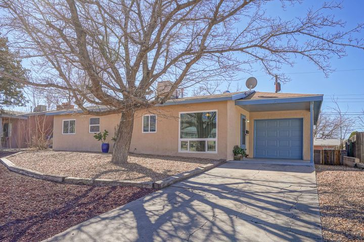 Completely remodeled home* New carpet thruout, new tile in kitchen & bath* New-Kitchen cabinets, countertops, sink & faucet, microwave, dishwasher*2018 stove & refrigerator* Draped off laundry area w/ new cabinets over washer/dryer* 2019 new thermal windows bedrooms, bath & kitchen* 2 large thermal picture windows 2020* New front door 2020, back door & garage side door replaced-2018* All new Door hardware* New water heater & new evaporative air conditioner w/ digital thermostat* Wall heaters 2016 & 2019* New light fixtures & ceiling fans* New electrical outlets & light switches* Bath includes new vanity w/ sink, faucet, mirror, light fixture + recent tub replacement* Roof is 8 years old* Finished garage w/new garage door* List of improvements are numerous & are listed in attached documents
