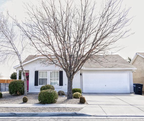 Super cute home with a beautiful updated kitchen and flooring. Well maintained, move in ready and located convenient to NW Albuquerque and Rio Rancho.  Refrigerated Air, and corner lot this home will not last the week!