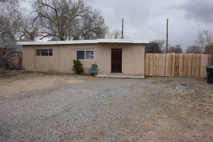 Cute 2 bedroom 1 bath home with brand new TPO.  Home has new carpet in large master bedroom and living room.  Sits on an over sized lot right close to shopping and stores.  The backyard has a shed for all your things.  Home being sold as-is.