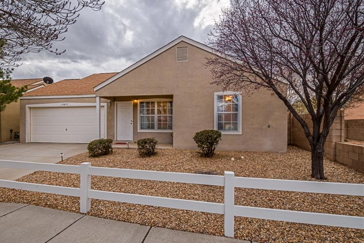 You'll love this cute house.  Perfect as a starter home or to downsize.  Located in the Tres Placitas community and close to Cibola HS and lots of shopping.  Newer Dishwasher and Microwave (2019),  Master bedroom and 2nd bedroom have new windows with a lifetime warranty.  Light and bright with fireplace.