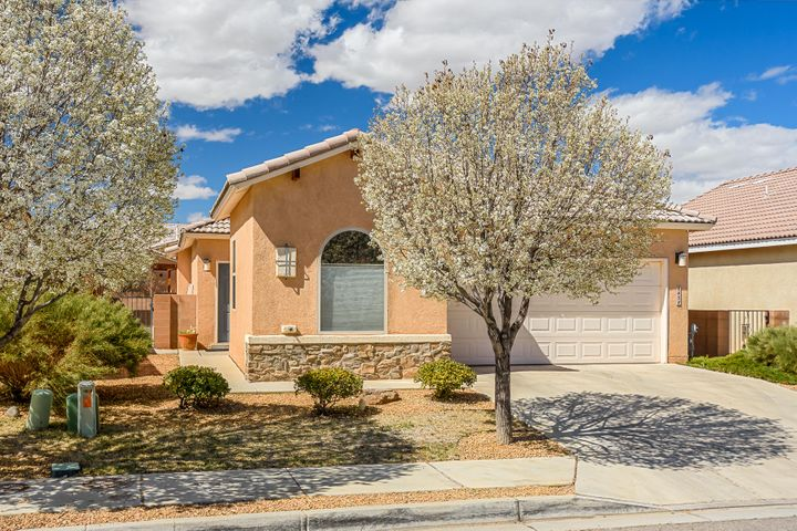 Welcome to Aldea at Santiago. Make this home top on your list. With an Open floor plan, Vaulted ceilings accented by rounded archways, Tile Floors, Carpet in Living Room and Bedrooms. Kitchen Convenient to the Living and Dining Areas, Modern lighting, Raised Panel cabinets, SS appliances, Pantry and Built-in Microwave. The Master Suite is well appointed from the 2 additional bedrooms and Bath, with a Large Walk-In Closet, wood shelving, Bath with Double Sinks, Moen Faucets, Separate Shower with Cultured Marble Surround, Porcelain on Steel White Garden Tub and Entry to Patio. Bonus Features include Desk Nook, Broad Shelving surrounding the Fireplace, Ceiling Fans, Refrigerated Air, Extended Back Patio, Finished Garage, Tiled/Pitched Roof, Foam Sealed Doors/windows, Walled & Landscaped!