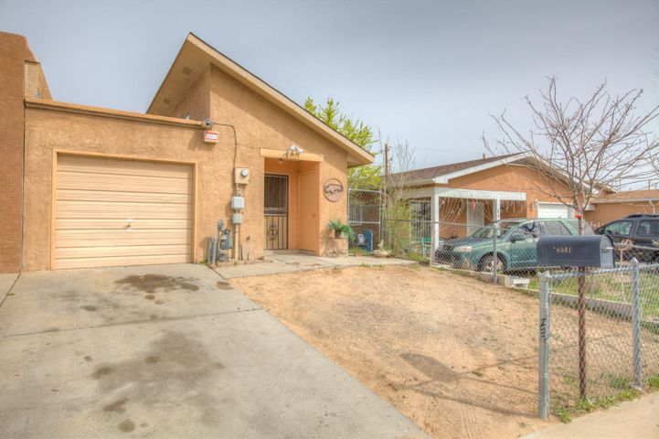 Cute starter home in SW Albuquerque. The home shows really well and is ready to move in.  Tile flooring throughout the home, 1 car garage .