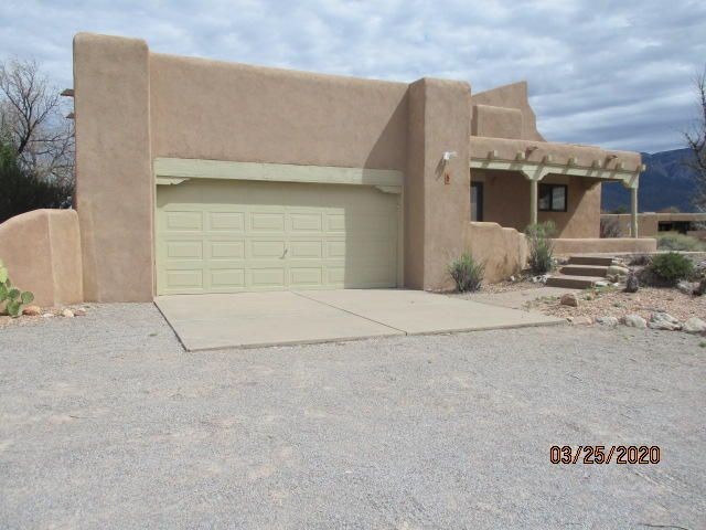 Spacious 3 bedroom 2 Bath home. Located on 1.1 Acres in the Subdivision of Placitas Trails. Spacious living room. Mountain Views. Property has Kiva fireplace. Walled backyard with covered patio. Must see.Seller does not pay customary closing costs: including title policy, escrow fees, survey or transfer fees. Property may qualify for seller financing (VENDEE).