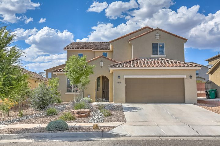 This magnificent 4 year old Pulte home has been meticulously taken care of. The open floorplan boasts a large living area with 20' ceilings, 18'' tile flooring and fireplace with tile surround. The upgraded kitchen has granite countertops, stainless steel appliances and cherry cabinets. The large master bedroom downstairs is definitely a plus in this floorplan. Upstairs you have 3 bedrooms, 2 bathrooms and a loft. The landscaped backyard is perfect for those summertime bbq's.