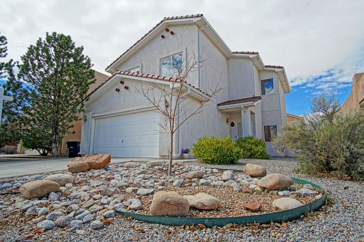 ONE Owner, SUPER Clean, MOVE in Ready, NEW Carpet Last Month! Open Floor Plan design! GREAT for Entertaining & Family Gatherings! Walk into soaring 2 story Ceilings, Great Room Concept. The kitchen offers an abundance of countertop space and tons of cabinet storage, in addition it is large enough for a big dinning table to accommodate the whole family! You will find 4 Bedrooms upstairs, Master offers a large bedroom, double closets, bath has double sinks with over size walk-in shower! The rest of the bedrooms are all good size as well. Stay cool this summer inside this beauty with refrigerated air and ceiling fans. Enjoy the backyard under the custom covered patio with the tranquil sounds of the custom water feature and real grass for children and pets to enjoy! Schedule a showing NOW!