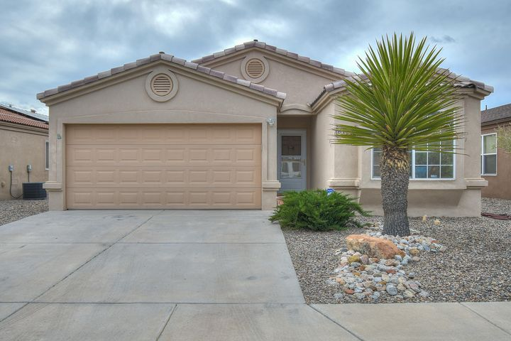 Nicely maintained home in Eagle Ridge Subdivision. Close to all amenities the west side has to offer. This 1567 square foot floorplan provides living room/dining room combination, eat-in kitchen, master suite, two additional bedrooms and full bath. Kitchen with breakfast nook, pantry, refrigerator, built-in microwave, dishwasher, gas stove/oven.  Master bedroom has garden tub, separate shower, walk-in closet.Neutral colors throughout, carpet and tile flooring, ceiling fans,  skylights, refrigerated air conditioning, alarm system. Tile roof, walled backyard with covered and open patios, SW gravel landscaped yards, two car garage.