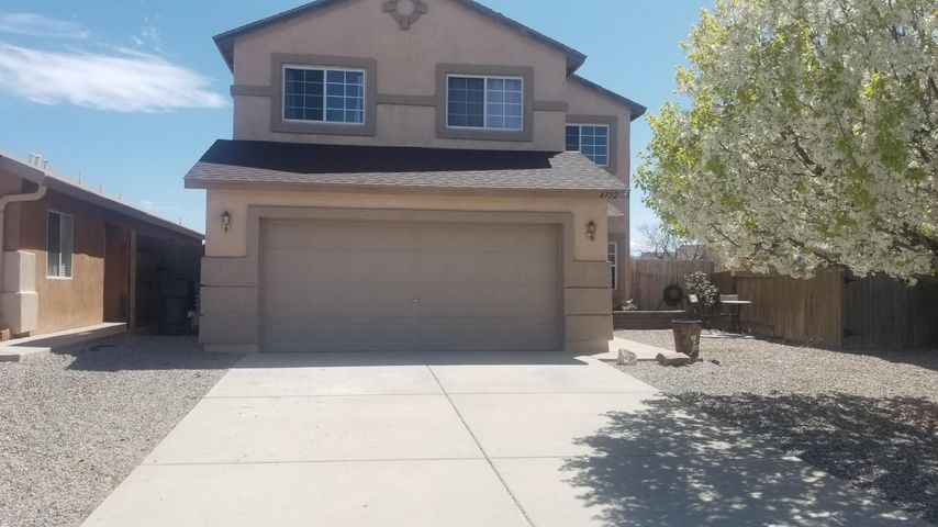 Views Views Views of the Sandia. Larger 2 story home with 4 bedrooms, a loft, 2.5 bathrooms and amazing patio with views of the Sandia mountains located on a Cul-de-saq that is newly painted with only one owner! Virtual tour is available and see it before it's gone!