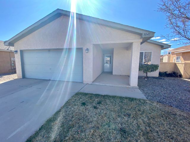 Cute and clean! This home is ready for a new owner! Featuring a two car garage, open living room to kitchen, ceramic tile, and laminate wood floors!  All appliances stay!  Refrigerated air! Backyard is a good size but still has low maintenance.  Show and sell today!