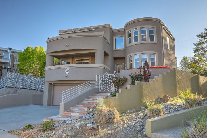 Incredible opportunity to purchase a younger home in the desirable Altura Park neighborhood.  Featuring amazing mountain views & a bright, open floorplan, prepare to be impressed!  The kitchen boasts granite counters, SS appliances, a custom mural & a breakfast nook with views!  The living room features a large view balcony too and a custom fp.  Upstairs you will find a welcoming loft w a window bench w mtn views & two spacious master suites, one with another balcony!  The backyard is private, grassy & quiet w another lovely mural to enjoy.  Additional extras ceiling fans galore, bull-nose corners, bancos, walk-in closets, & vaulted ceilings.  Walk to the park or to get ice cream or coffee.  This home will check off every box on your list!  Come see it today!