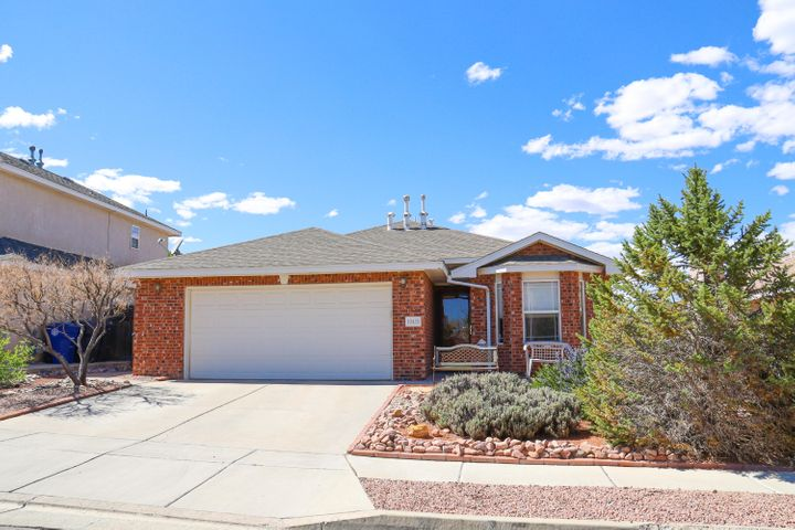 Open floor plan features hardwood flooring, country kitchen with breakfast nook, luxurious master bedroom/bath, covered patio with ''Garden of Eden'' backyard.  Close to shopping and schools.  Move in ready.