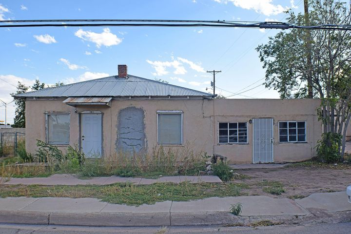 Commercial zoning, located at the corner of McCutcheon & California Street, which is at a busy part of the City of Socorro.  Ideal location for office or other small business opportunity.  Home needs some TLC, and the Seller is selling this home in ''AS IS'' condition.