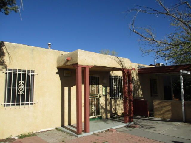 Much potential 3 Bedroom 2 bath home located near shopping, restaurants, and UNM. Property has alley access and covered patio. Property is sold as-is where-is seller will not make any repairs.