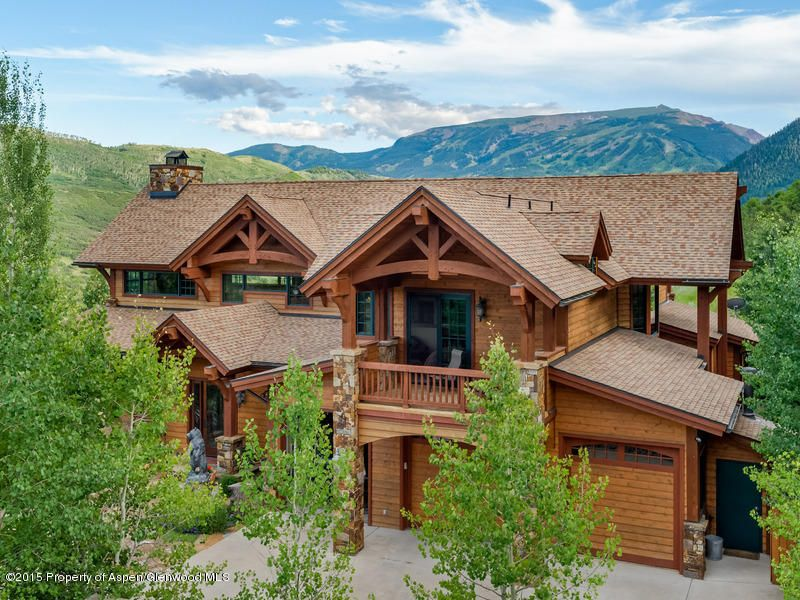 Mountain craftsman style home