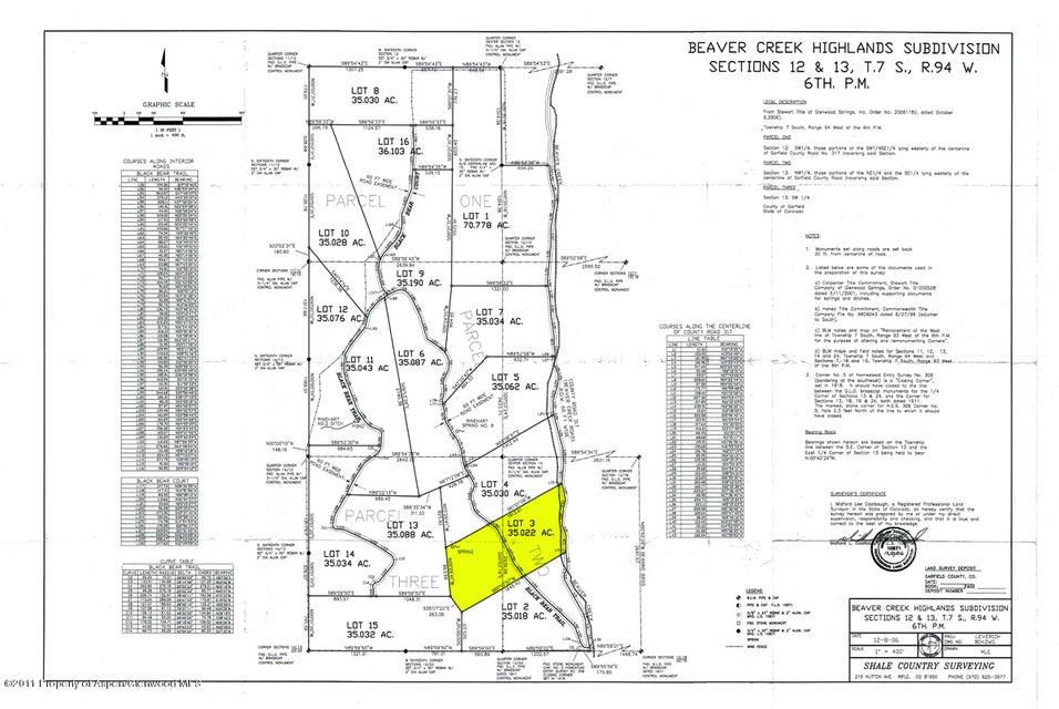 Lot 3 Beaver Creek Rd/Cr 317 Rifle, Co 81650 - MLS #: 150037