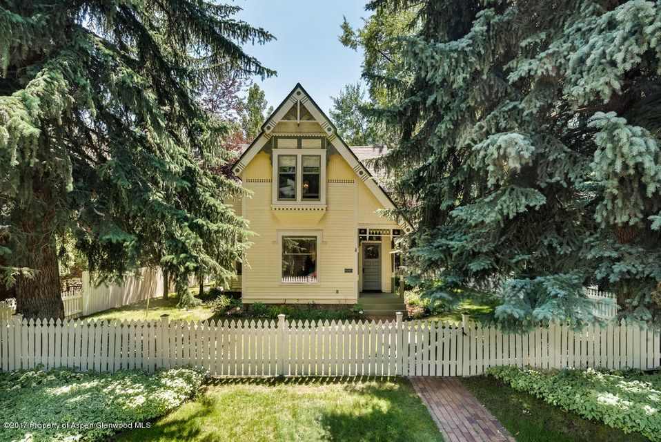 Unique opportunity to own a quintessential Aspen Victorian in the west end! Three bedroom, two and one half bath with plans in place and approved by zoning and HPC for expansion included in the price. This elegant home features a spacious open living area with all new contemporary furnishings and hardwood floors. The 6,000 square foot lot offers a tremendous back yard with great entertaining space and wonderful southern exposure. Over-sized one car garage has good storage areas. This property is historic yet incredibly chic. Great first entry price point to get into the fabulous west end. Tons of upside with the expansion and plans.