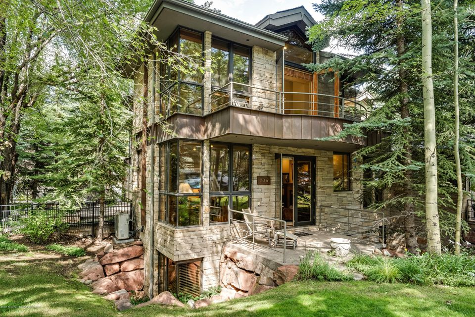 Great opportunity to buy in Aspen's West End on a tree-shaded corner lot, one block to the Music Tent and a short walk to the Aspen Institute Campus. Featuring a desirable floor plan bathed in natural light, generous window wells that could not be reproduced today; a timeless stone exterior; a beautifully landscaped yard and fenced patio perfect for pets.  In the summer there is air-conditioning on the main floor and upstairs; in the winter snow removal is a breeze with a snow-melted sidewalk and patio.