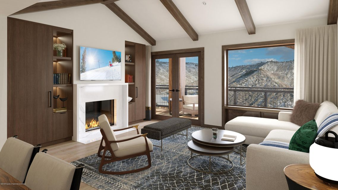 Only eleven lucky families will call the Limelight Residences Snowmass  home.New two-bedroom residence withan outdoor deck off great roomfeaturing views of the plaza andice-skating rinkGaggenau kitchen appliances--the finest in contemporary European stylingGreat room that features a cozywhite marble fireplace surroundwith custom wood cabinetryproviding ample storageCenter kitchen island in Caesarstone with adjoining dining room table perfect for entertainingMaster bedroom suite with cozy fireplace and outdoor deck