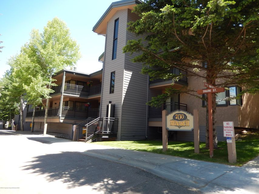 MOTIVATED SELLER DROPS PRICEA few short steps from Lift 1A and you are on Aspen Mt. Park your car in the underground parking garage and store your toys in the owners closet.  A two bedroom two bath with spacious living area with wood burning fireplace with outside patio area. In town easy living.