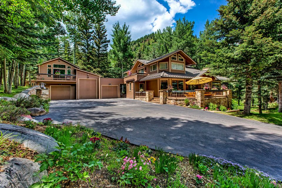 As a family retreat or corporate event destination, Beaver Run Ranch balances the best of Colorado. Whether your family loves hunting, fly fishing, hiking, and mountain biking or is hoping to find a sea of tranquility in the mountains, away from the demands of the ''real world,'' this incredible home has it all. A beautiful 25 minute drive from Aspen, this 4,942sf home has 4 bedrooms, 4.5 bathrooms, and is nestled on 45 acres adjacent to miles of BLM. Every fly fisherman's dream, the Woody Creek River cascades through the property, which also boasts 5 private ponds that are fully stocked with various species of trout. Hiking and mountain biking trails are nearby, or bring your horses - there's plenty of room in the 10.000sf barn with eight 11'x11' stalls, tack room, wash room, rec room, an outdoor riding area. Above the barn is a 2 bed, 1 bath apartment overlooking the river, for friends, staff, or anyone who needs more privacy when coming to visit. The oversized, heated, 4-car garage has room for your trucks, ATVs, snowmobiles, and any other outdoor toys, with 12'Wx10'H doors. You'll want to invite family and friends to share your vacations, and when they come to visit, they can choose from the guest house (with 3 bed/2 bath), the Teepee or the Chuck Wagon. This place is too amazing not to be seen! For private showings, Jeff Kelley may be reached at 970-274-0361.