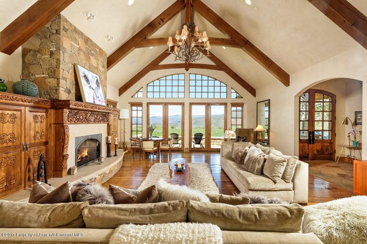 Stunning Great Room with gas fireplace