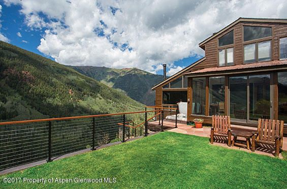 Perched above Castle Creek, you can easily hear the river from this property.