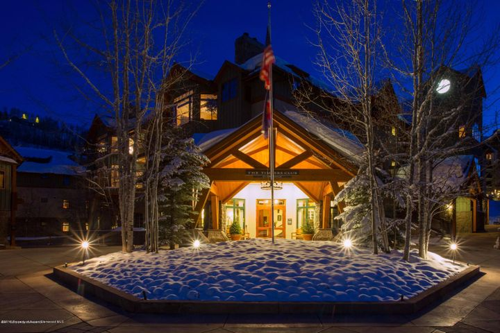 Entrance of Private Snowmass Timbers Club
