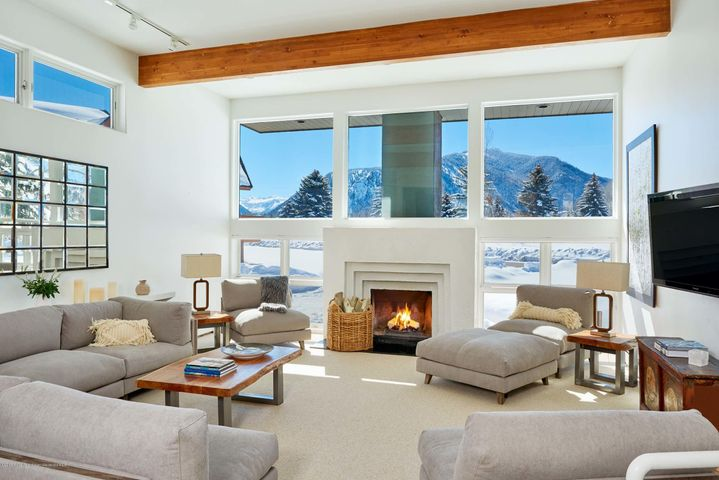Spacious living room with incredible views