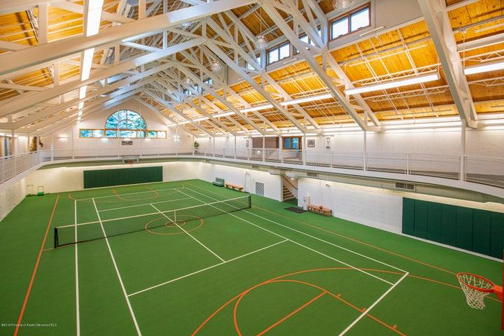 NBA regulation basketball court and tennis court