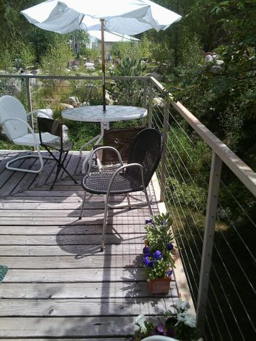 fantastic views, babbling river and privacy. plenty of parking