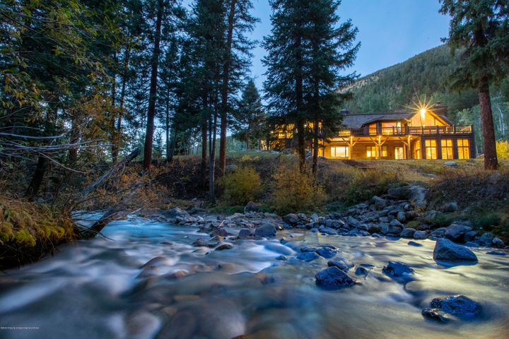 Nestled along Castle Creek, the River House offers perfect luxury.