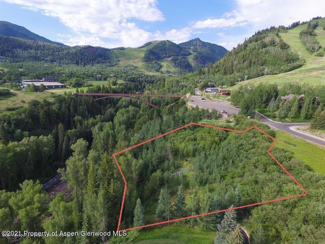 Incredible property above Maroon Creek - across from the Tiehack lift and on the Maroon Creek golf course.