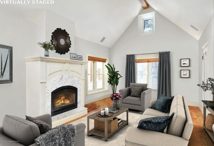 Located in the heart of Aspen surrounded by $10,000,000 - $20,000,000 homes on a quiet street with no delivery trucks and through traffic.  Within blocks of downtown and the Gondola is this charming Victorian was completely renovated in 2000.  High ceilings throughout give this house a spacious feel.  This architectural masterpiece features hardwood floors, gourmet kitchen, 4 en-suite bedrooms, two-car garage and a deck off master bedroom overlooking Aspen Mountain.  486 square footage could be added in basement under historic cabin.  Heated sidewalk and driveway.  See Wall Street Journal under documents The Millionaires Living in the Mining Cabins.  https://www.wsj.com/articles/the-millionaires-living-in-the-mining-cabins-1541091611?mod=searchresults&page=1&pos=1