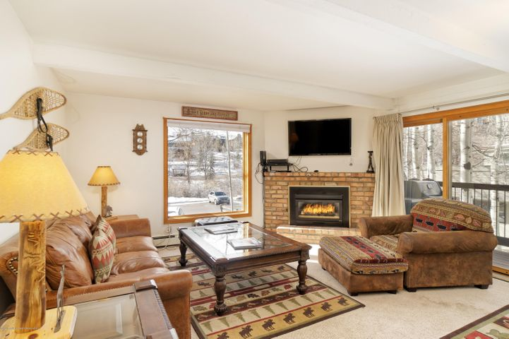 Walk everywhere from this ground floor 2 bedroom/2 bath condo. Steps away to the free Snowmass shuttle, Snowmass Center and skier bridge to Assay Hill. Washer/Dryer are now allowed. Pets allowed. Complex offers pool, hot tub, and common parking. Great opportunity for locals or second homeowners.